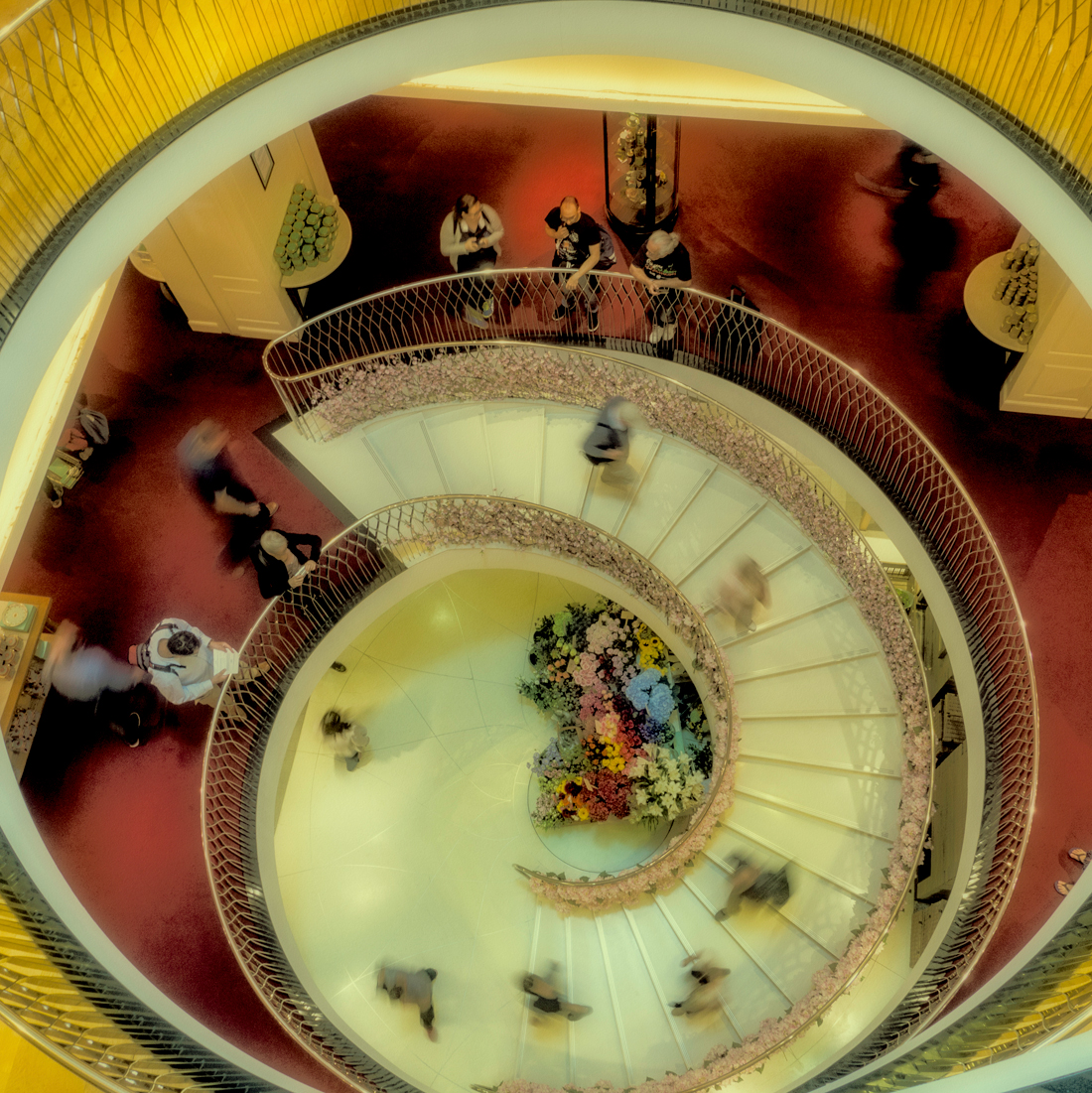 Staircase with People