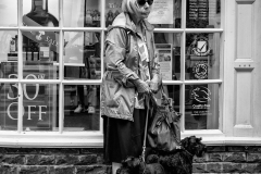 Two Dogs and Old Woman