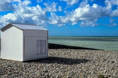 One White Beach Hut