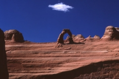 Delicate Arch and White Cloud