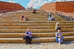 People on Stair