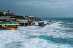 Ligurian Sea Stormy in Genoa Quarto