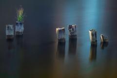 Last Light on Six Bollard in the Water